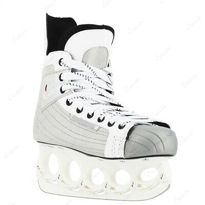Paar 2.Wahl Schlittschuh tx 10 Eishockey mit t-blade Funblade Holder Gr 43