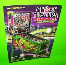 GHOSTBUSTERS LE Original Stern Flipper Pinball Machine Sales FLYER Limited Ed.