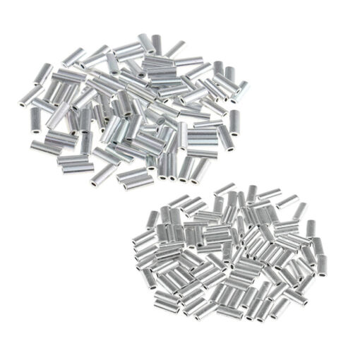 200 Stücke Länge Single Barrel Crimp Hülse Set Aluminium Rohr Angeln