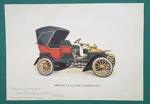 CAR-ADVERTISEMENT-Convertible-Automobile-1904-COLOR-Art-Nouveu-Era-Print