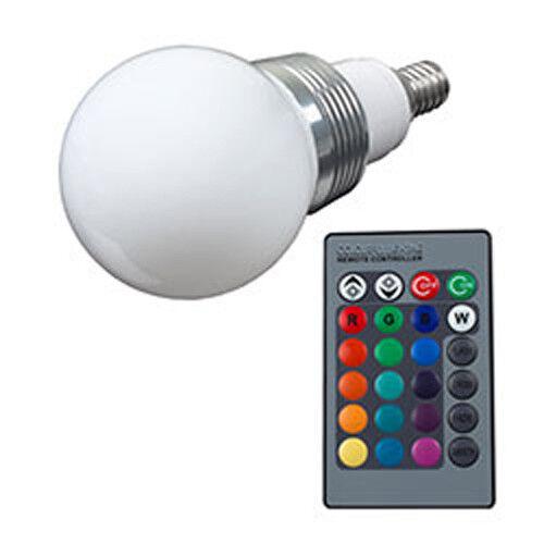 LED Glühlampe inkl Fernbedienung Farbwechsel Lampe 3W E14 Energie:B