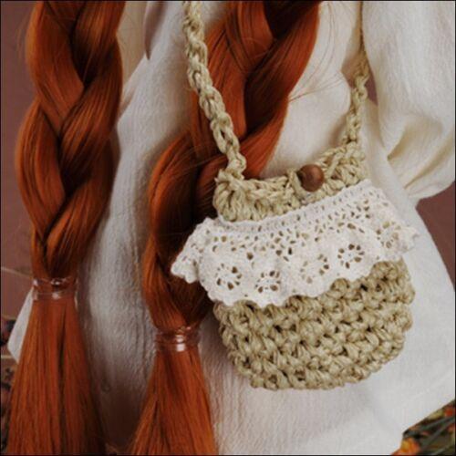 Beige 1//4 1//3 BJD  MSD size Free Dollmore Thedaisy Lace Knit Bag