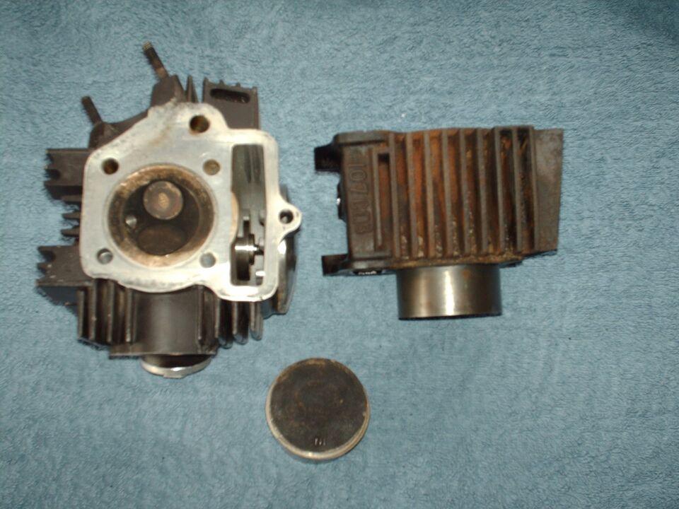 107cm3 cylinder.stempel og topstykke 107cm3