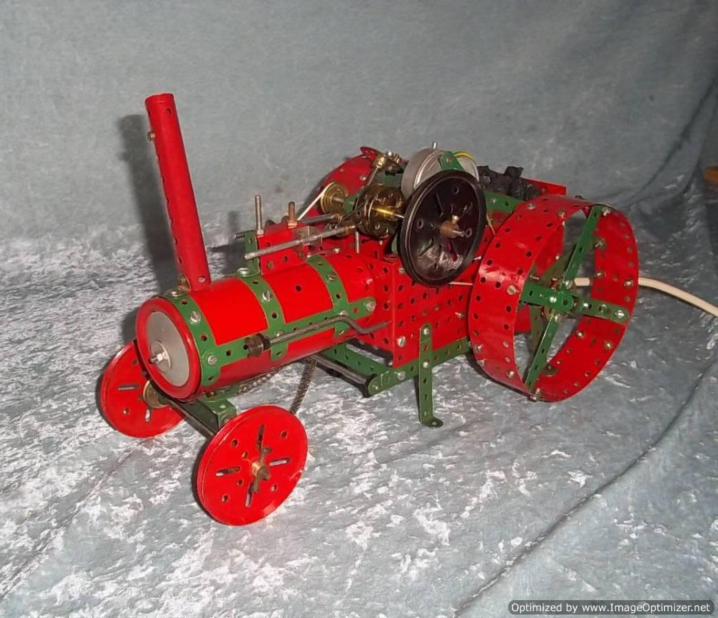 Meccano Rojo & verde desmontado tracción Motor Museo