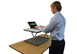 Details about MINI Desktop Laptop Standing Desk Converter Riser Conversion  Stand Topper cheap