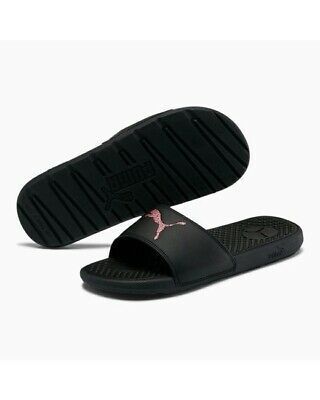 Womens Puma Slides Sandals Size 7 Black