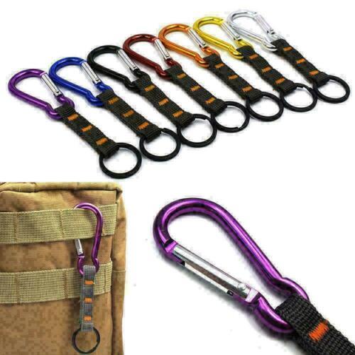 Carabiner Buckle Nylon Multi-Purpose Belt Hanging Key Ring Clip Outdoor Sup L4S0