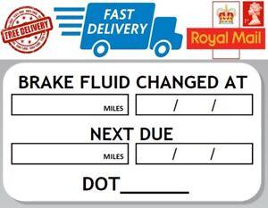 48-x-Brake-Fluid-Change-Labels-Service-Next-Due-Stickers-Dot