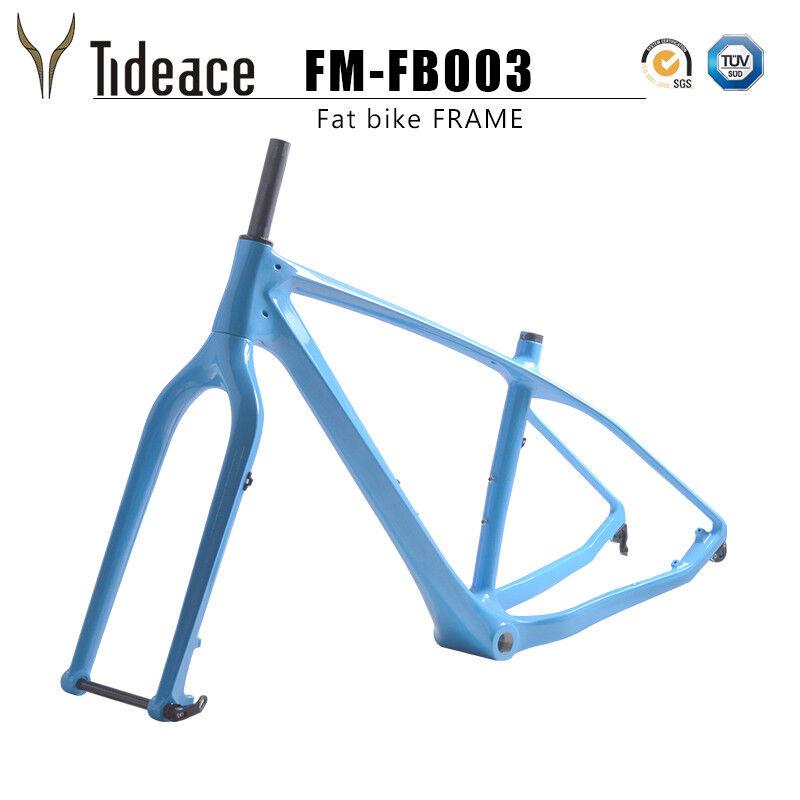 Snow Bicycle Frame Sky bleu 26er Fat Bike Frame BSA 120mm UD Matte plage Frames
