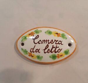 Targhette In Ceramica Per Porte.Targa Porta Per Bed Breakfast In Ceramica Personalizzabile Anche Con