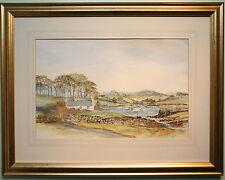 Original Watercolour Painting GIBBS ISLAND, STRANGFORD Irish Artist HARRY REID