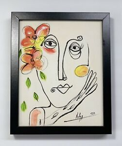 PAINTING-ORIGINAL-ACRYLIC-ON-CANVAS-PANEL-FRAME-INCLUDED-CUBAN-ART-8X10-By-LISA