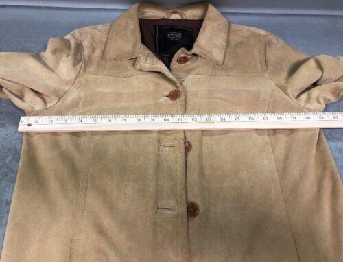 Light Leather Coach Suede Tan Women's Jacket Large nq1dtdw0T