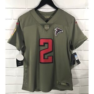 NWT Nike Women s Salute To Service Atlanta Falcons Jersey Medium NFL ... 0f612ba89