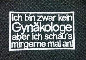 Gynaekologen-Patch-Aufnaeher-Biker-Kutte-Streetfighter-Abzeichen