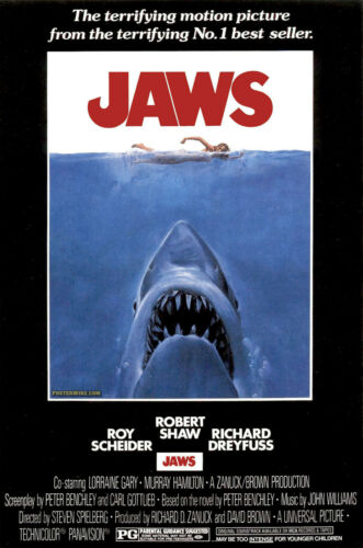 JAWS,the movie,tribute,iron on t-shirt transfer FOR WHITE T-SHIRTS ONLY