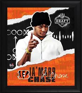 Ja'Marr Chase Cincinnati Bengals Frmd 15 x 17 2021 Draft Day Collage - Facsimile