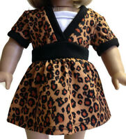 Doll Clothes For 18 Inch American Girl - Animal Print Layered Look Top