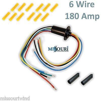 Slip ring KIT 180 amp 6 wire for wind turbine permanent magnet alternator pmg