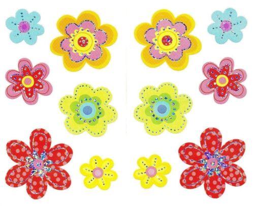 ~ Reflections Delightful Flowers Flower Bright Silver Mrs Grossman Stickers ~