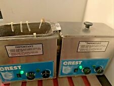 Lot Of 2 Crest 275hta Tru Sweep 34 Gallon Heated Ultrasonic Cleaner