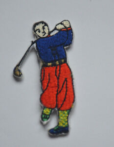 GOLFER-GOLF-GOLFING-6cm-Embroidered-Sew-Iron-On-Cloth-Patch-Badge-APPLIQUE