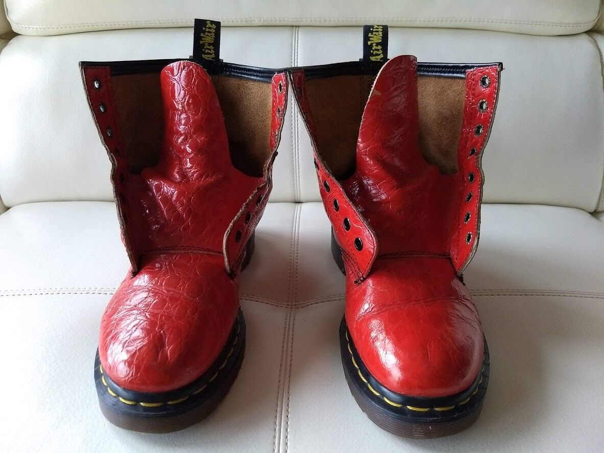 DOC DR. DR. DR. MARTENS FIRE ENGINE rot CROC CROCODILE Stiefel VINTAGE MADE IN ENGLAND 5UK e1f62b