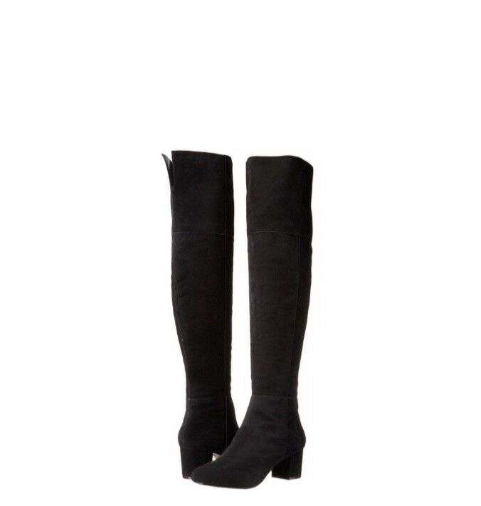 Dune London Womens Sanford Over-the Knee Black Suede Boot, Sz. 8M  85