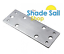 16mm Rafter Bracket Backing Plate Shade Sail Fitting