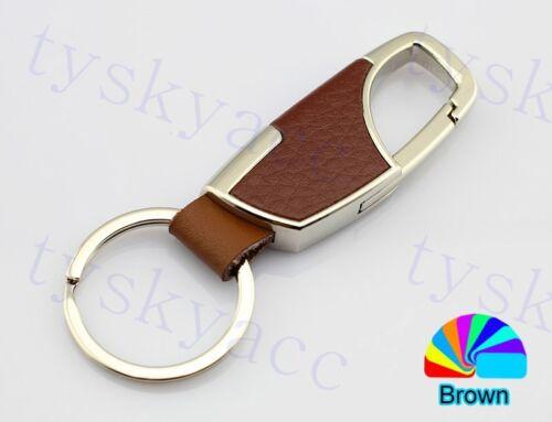 Car Accessories Gift Metal Leather Key Ring Keyfob Key Chain Holder Ring Decor
