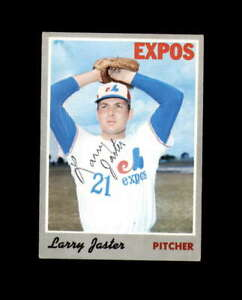 Larry Jaster Hand Signed 1970 Topps Montreal Expos Autograph