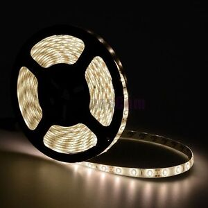 16-4FT-5M-Warm-White-5630-SMD-300LED-Waterproof-IP65-Flexible-Strip-Light-12V60W