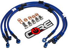 YAMAHA YZF R1 2009-2014 CORE MOTO FRONT & REAR BRAKE LINES TRANSLUCENT BLUE