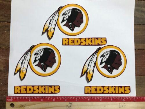 6 Washington Redskins Fabric Applique Iron On Ons