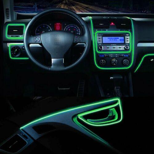 12V 5m EL Wire LED Lichterkette Draht Neon lichter Lichtschnur Leuchtdraht Flex