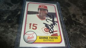 1981-FLEER-GEORGE-FOSTER-AUTOGRAPHED-BASEBALL-CARD