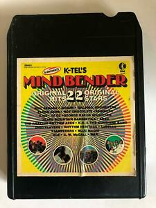 MIND-BENDER-22-Original-Hits-K-Tel-8-Track-Tape-Sedaka-LaBelle-Spinners-War-10cc