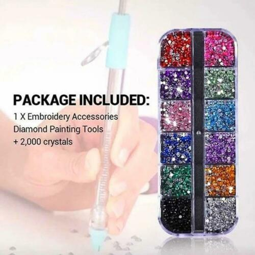 5D Diamond Painting Pen or 2000 Crystal Kit Tools Embroidery Accessories DIY NEW