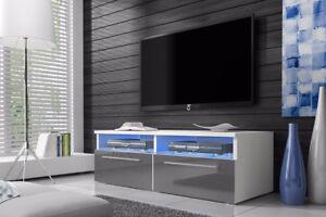 Siena-Meuble-TV-avec-LED-100-cm-Blanc-Noir-effet-Chene-Gris-design-salon-casier