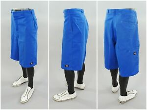 Blue-Dickies-Knee-Length-Flat-Front-Chino-Casual-Work-Skate-Shorts-Size-36