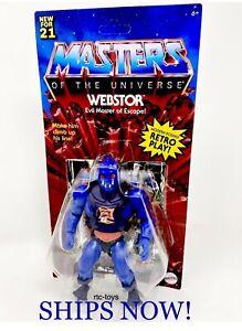MOTU Webstor Masters Of The Universe Origins Wave 6 New '21 Retro Mattel In Hand