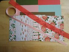 "Stampin Up BIRTHDAY BOUQUET 6 X 6"" Designer Paper Card Kit Ribbon        HTF"