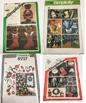 U-Pick Vintage Simplicity  Sewing Patterns Christmas Decorations