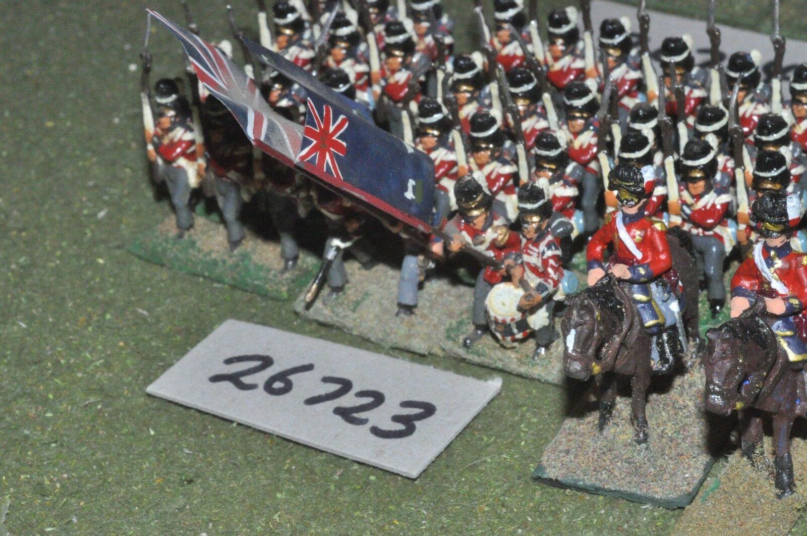 25mm napoleonic   british - fusiliers 36 figures - inf (26723)