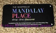 "LUXOR ""THE SHOPPES AT MANDALAY PLACE"" HOTEL ROOM KEY CARD LAS VEGAS CASINO"