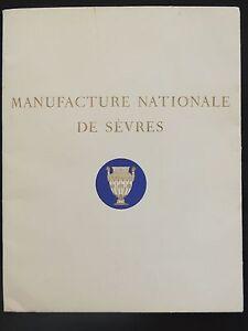 livret-catalogue-Manufacture-nationale-de-Sevres-porcelaine-faience-1956-pub