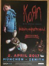 KORN  2017  MÜNCHEN  ++ orig.Concert Poster -- Konzert Plakat  A1 NEU