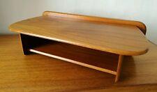 Superb Vintage Mid Century Modern Teak Telephone Floating Shelf Bedside 1960's