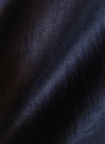 leichter Kleiderstoff in schwarz nachtblau 88/% Leinen