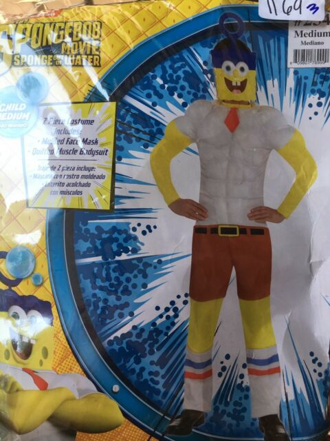 Rubies Spongebob Movie Muscle Chest Plankton Costume for Kids